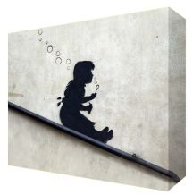 Banksy Bubble Girl Canvas Art - Choose your size - Ready to Hang - Free P&P
